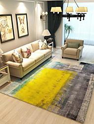 baratos -Os tapetes da área Modern Poliéster, Rectângular Qualidade superior Tapete
