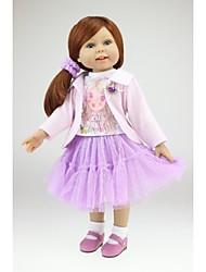 Недорогие -NPKCOLLECTION Модная кукла Девушка из провинции 18 дюймовый Полный силикон для тела Силикон - Искусственные имплантации Голубые глаза Детские Девочки Игрушки Подарок