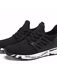 cheap -Men's Knit / Elastic Fabric Summer Comfort Athletic Shoes Running Shoes Black / Red