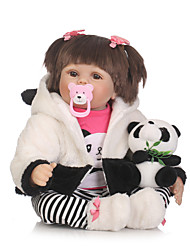 cheap -NPKCOLLECTION Reborn Doll Baby Girl 24 inch Artificial Implantation Brown Eyes Kid's Girls' Gift