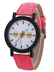 baratos -Xu™ Mulheres Relógio Elegante / Relógio de Pulso Chinês Criativo / Relógio Casual / Legal PU Banda Casual / Fashion Preta / Branco / Azul
