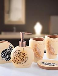 Недорогие -Набор аксессуаров для ванной Новый дизайн Резина 5 шт. - Ванная комната Односпальный комплект (Ш 150 x Д 200 см)