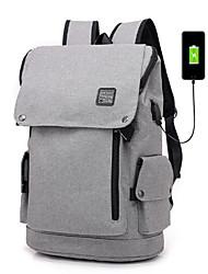 cheap -Men's Bags Canvas School Bag Zipper Black / Dark Grey / Light Grey