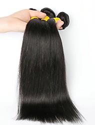 baratos -3 pacotes Cabelo Indiano Liso Cabelo Humano Cabelo Humano Ondulado / Extensões de Cabelo Natural 8-28 polegada Tramas de cabelo humano Sem Touca Design Moderno / Nova chegada Côr Natural Extensões de