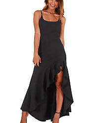 cheap -women's slim trumpet / mermaid dress high waist asymmetrical strap