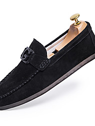 cheap -Men's Moccasin Cotton Summer Loafers & Slip-Ons Black / Red / Khaki