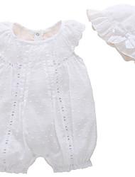 baratos -bebê Para Meninas Sólido Sem Manga Peça Única