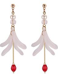 cheap -Women's Synthetic Tanzanite Long Drop Earrings - Imitation Pearl Stylish Black / Red / Green For School / Birthday