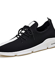 cheap -Men's Light Soles Mesh Summer Athletic Shoes Running Shoes / Walking Shoes Color Block White / Black / Red