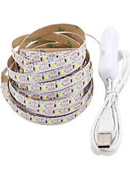 abordables -5 m Tiras LED Flexibles 300 LED 2835 SMD Blanco Cálido / Blanco Cortable / USB / Decorativa Alimentado por USB 1pc