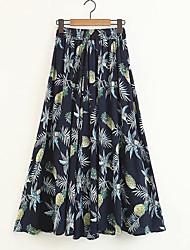 abordables -Mujer Básico Columpio Faldas Fruta Piña