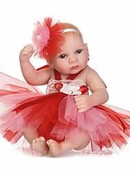 baratos -NPKCOLLECTION Bonecas Reborn Bebês Meninas 12 polegada Silicone de corpo inteiro / Silicone / Vinil - Olhos Castanhos de Implantação Artificial de Criança Para Meninas Dom