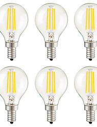 povoljno -KWB 6kom 4 W 400 lm E14 / E26 / E27 LED filament žarulje G45 4 LED zrnca SMD Ukrasno Toplo bijelo 220-240 V