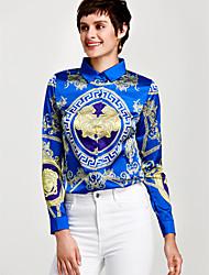cheap -Women's Work Sophisticated Shirt - Floral Print Shirt Collar