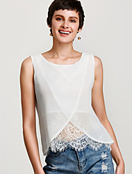 cheap -Women's Holiday Basic Loose Blouse - Solid Colored / Summer / Lace