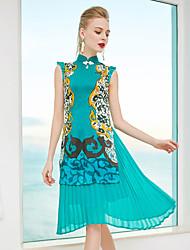 cheap -ZIYI Women's Holiday Silk Slim Sheath Dress Stand