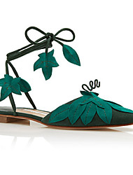 billige -Dame Sko Ruskind Sommer Komfort Sandaler Flade hæle Grøn