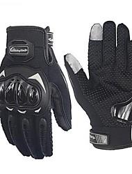 Недорогие -верховая езда сенсорный экран мото-перчатки воздухопроницаемая защитная экипировка велосипед гоночные противоскольжения перчатка лето черный - зеленый