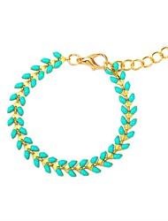 abordables -Femme Tanzanite synthétique Long Bracelets Rigides - Résine Rétro, Ethnique, Mode Bracelet Bleu Pour Quotidien / Ecole
