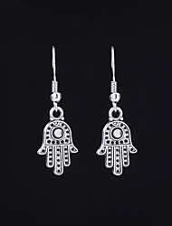 cheap -Women's Sculpture Drop Earrings - Faith Simple, Ethnic Black / Silver For Gift / Going out