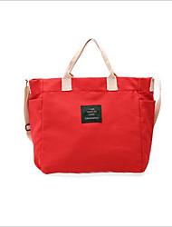 お買い得  -女性用 バッグ キャンバス ショルダーバッグ ジッパー ルビーレッド / グレー / イエロー