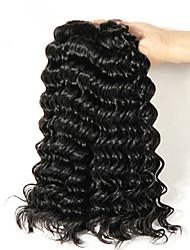 cheap -Peruvian Hair Curly Natural Color Hair Weaves / Human Hair Extensions 4 Bundles 8-28 inch Human Hair Weaves Capless Fashionable Design / Best Quality / New Arrival Natural Black Human Hair Extensions