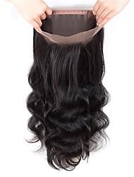 Недорогие -Fulgent  Sun Жен. Волнистый 360 Лобовой Бразильские волосы Швейцарское кружево Натуральные волосы Бесплатный Часть Кружевное закрытие На каждый день / Обручение / Повседневные