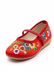 abordables -Fille Chaussures Satin Printemps Confort Ballerines pour Enfants Pêche / Rouge / Rose