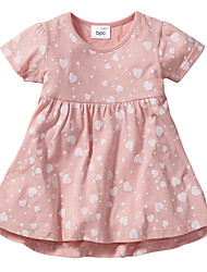cheap -Baby Girls' Print Short Sleeve Dress