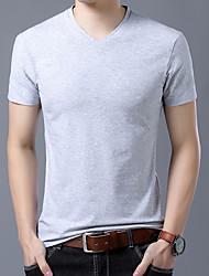 billige -Rund hals Herre - Ensfarvet T-shirt / Kortærmet