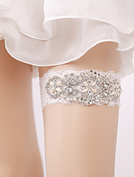 cheap -Lace Imitation Pearl / Euramerican Wedding Garter 617 Crystals / Rhinestones Garters Wedding / Special Occasion