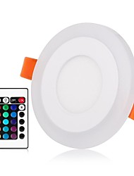 cheap -ZDM® 1set 3 W / 6 W 45 LEDs New Design / Remote Control / RC / Dimmable LED Panel Lights / LED Downlights RGB+Warm / RGB+White 85-265 V
