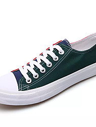 cheap -Men's Canvas Summer Comfort Sneakers Color Block Red / Green / Blue