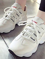 abordables -Mujer Zapatillas de deporte / Zapatos Casuales Goma Running Ligeras, Transpirable PU microfibra sintético / Red Blanco / Negro / Rosa