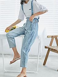 povoljno -žene tankim trapericama / uniformama hlače - čvrste boje