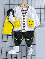 cheap -Baby Boys' Blue & White Print Long Sleeve Clothing Set