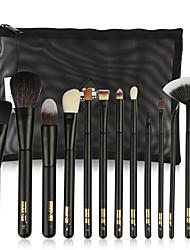preiswerte -11pcs Makeup Bürsten Professional Bürsten-Satz- / Rouge Pinsel / Lidschatten Pinsel Wolle / Nylonfaser vollständige Bedeckung Holz /