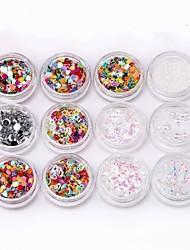 abordables -24pcs Bouts D'ongles Artificiels Outil Nail Art Kit Nail Art Design Tendance / Créatif / 24 couleurs Manucure Manucure pédicure Décoratif / Couleur mixte Quotidien