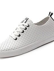 billige -Dame Sko PU Sommer Komfort Sneakers Flade hæle Sort / Grøn / Blå / Bryllup / Fest / aften