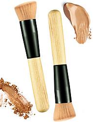 abordables -2pcs Pinceaux à maquillage Professionnel Pinceau à Blush Pinceau en Nylon / Poil Synthétique Economique / Professionnel / Doux Bois