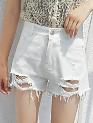 povoljno -Žene Osnovni Traperice / Kratke hlače Hlače Jednobojni