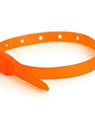 abordables -Perros / Conejos / Gatos Cuello / Atención de Salud Portátil / Impermeable / Mini Un Color / Geométrico Otros Materiales Naranja / Rojo