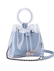 baratos -Mulheres Bolsas PVC Bolsa de Ombro Mocassim Preto / Rosa / Azul Céu