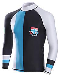 cheap -Dive&Sail Men's Diving Rash Guard SPF50, UV Sun Protection, Quick Dry Spandex Long Sleeve Swimwear Beach Wear Sun Shirt / Top Classic Diving / Breathable / Anatomic Design / Stretchy / Breathable