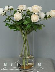 baratos -Flores artificiais 5 Ramo Clássico / Solteiro (L150 cm x C200 cm) Casamento / buquês de Noiva Rosas / Flores eternas Flor de Mesa