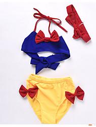 baratos -Infantil Para Meninas Sólido / Estampa Colorida Roupa de Banho
