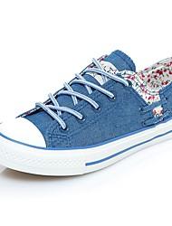 cheap -Women's Shoes Canvas Summer Comfort Sneakers Flat Heel Blue / Light Blue