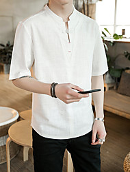 cheap -Men's Chinoiserie T-shirt - Solid Colored