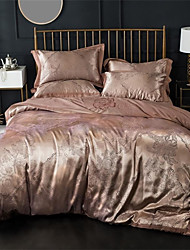 cheap -Duvet Cover Sets Luxury 100% Cotton / Silk / Cotton Blend / Cotton Jacquard Printed & Jacquard 4 Piece