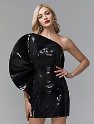 preiswerte -Eng anliegend Ein-Schulter Kurz / Mini Pailletten Promi-Stil Cocktailparty / Formeller Abend Kleid mit Paillette durch TS Couture®
